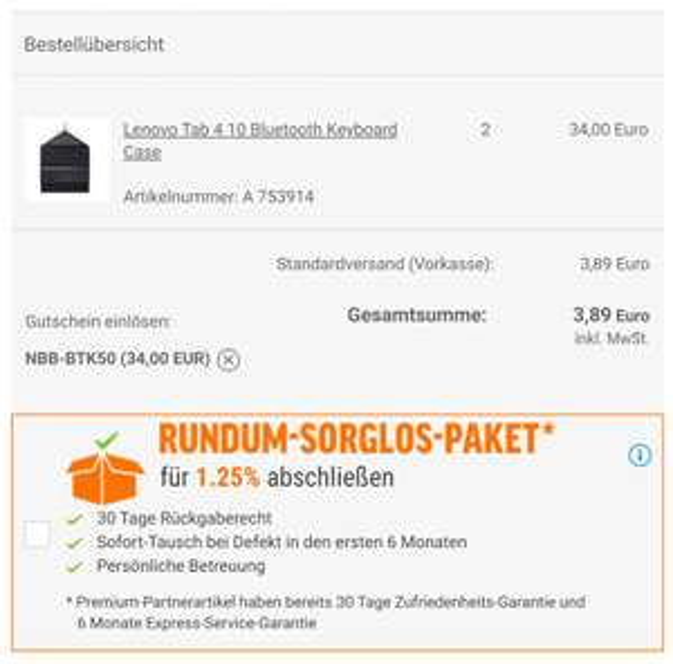[Preisfehler] Zwei Lenovo Tab 4 Bluetooth Keyboard Cases gratis + VSK