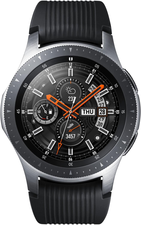 SAMSUNG Galaxy Watch 46 mm Bluetooth Smartwatch Edelstahl Silikon