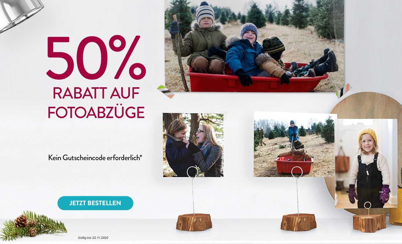 50% Rabatt auf Fotos (auch Poster)