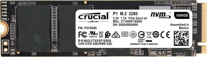Crucial P1 1TB SSD (NVMe, M.2/PCIe, 2000 MB/s Lesen, 1700 MB/s Schreiben) für 77,01€ [MediaMarkt / Saturn / Amazon]
