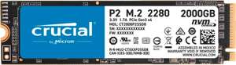 CRUCIAL P2 2TB SSD M.2 intern für 169,36€ inkl. Versandkosten [MM Saturn Amazon]