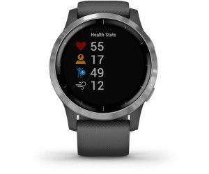 GARMIN Vivoactive 4 Smartwatch Polymer Silikon, k.A., Dunkelgrau/Silber [Saturn & Mediamarkt]