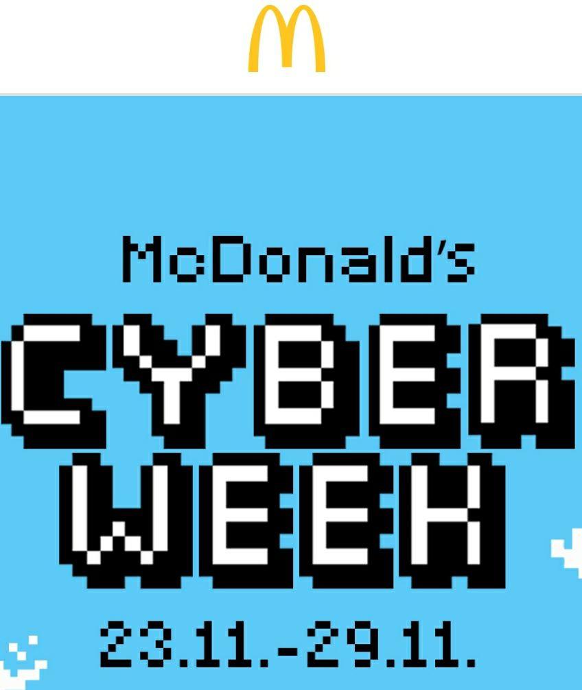 Cyber Deals McDonalds: jeden Tag ein anderes Menü Small für 4,99€ (z.B. Royal Käse o. BigMac Menü)