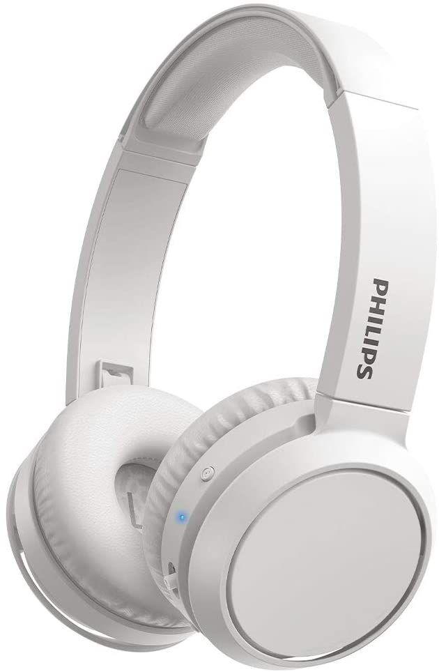 Philips On Ear Kopfhörer H4205WT/00 mit Bass Boost-Taste (Bluetooth, 29 Stunden Wiedergabezeit, Schnellladefunktion, Geräuschisolierung,