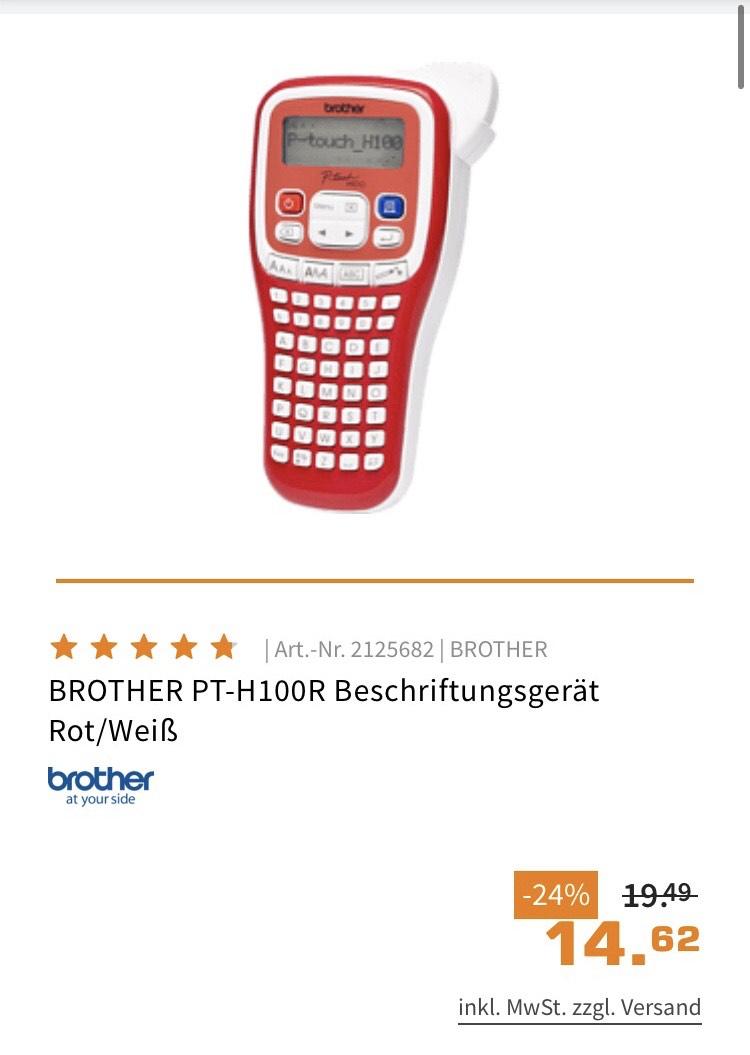 Brother Beschriftungsgerät P-Touch H100R für 14,62€ (Saturn / Media Markt Abholung + Expert online)