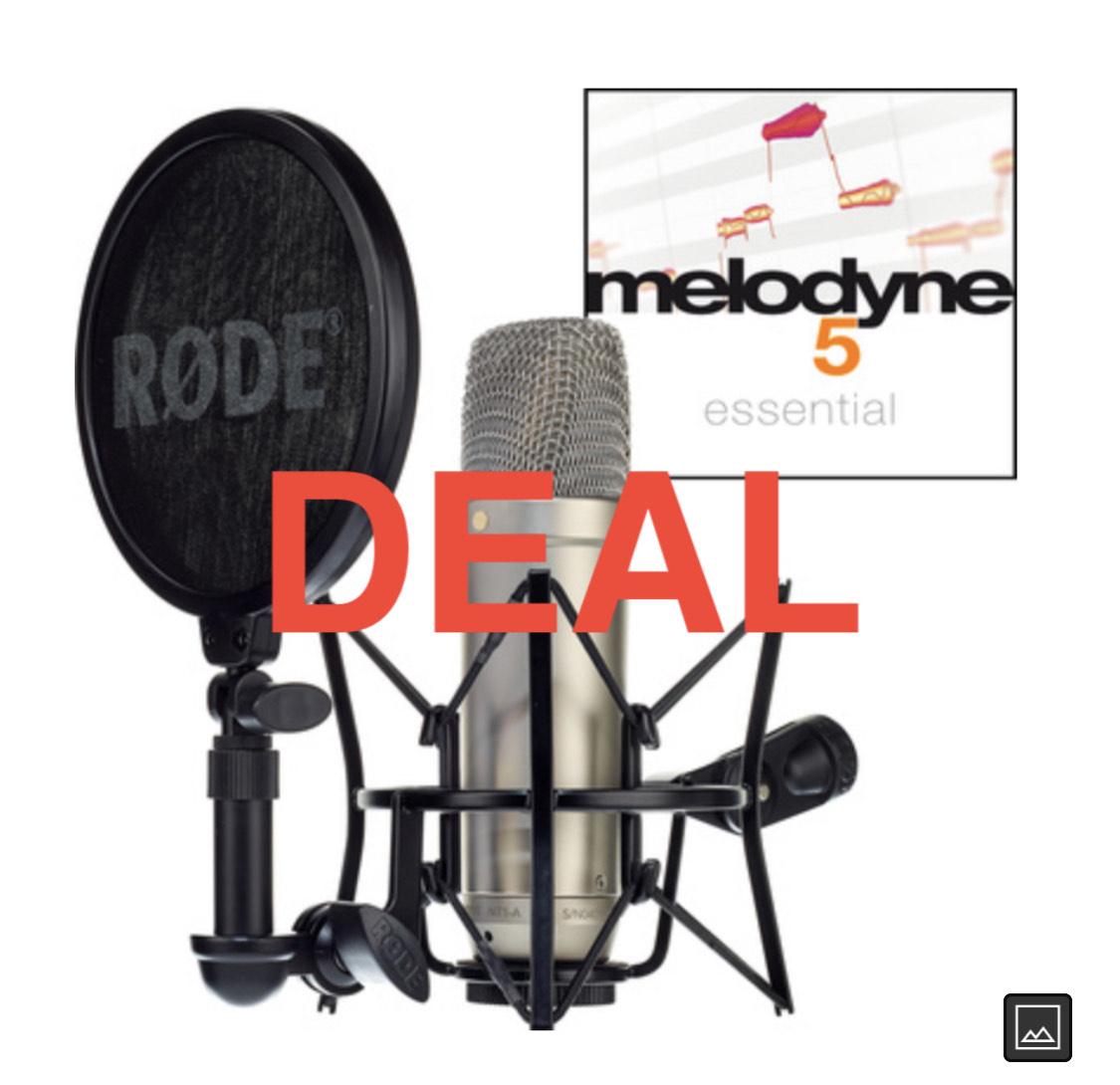 Rode NT1-A Complete Vocal Recording + melodyne 5 essential für 166€!