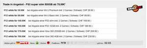 PS3 Super Slim 500GB white +2 Controller ab 59,99€ @ GAMESTOP
