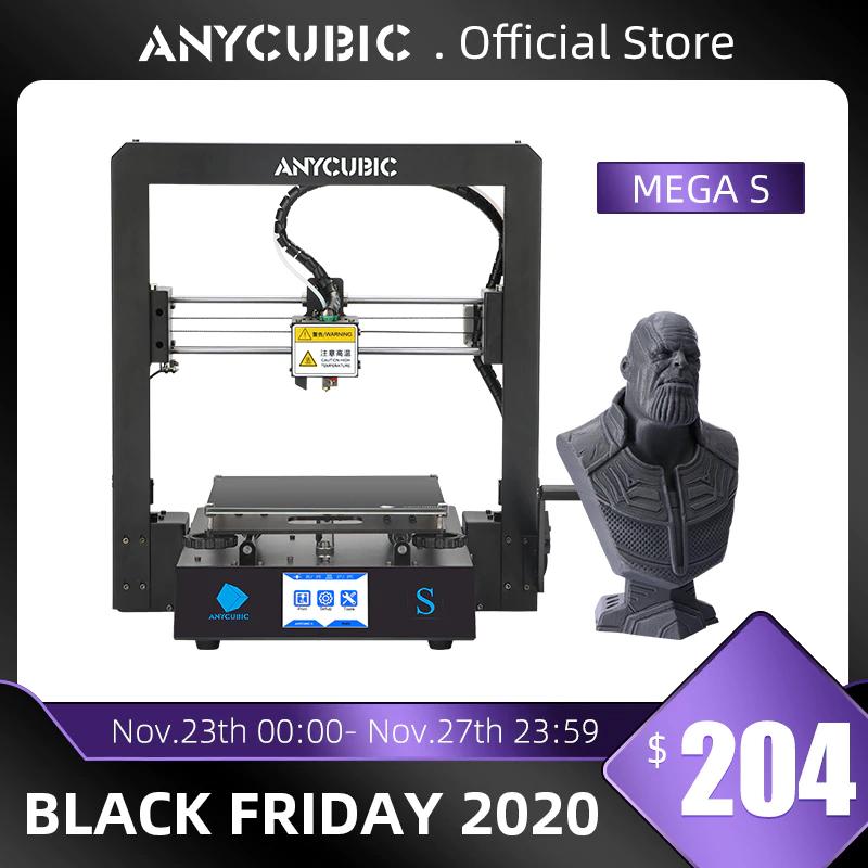 Anycubic Mega-S 3D Drucker (3.5'' Touchscreen, FDM) für 156,86€
