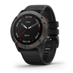 FENIX 6X Sapphire GPS-Multifunktionsuhr-Smartwatch Schwarz/Schiefergrau