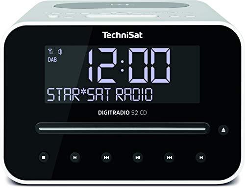 [Amazon oder Alternate] TechniSat Digitradio 52 CD Stereo DAB Radiowecker mit zwei einstellbaren Weckzeiten (DAB+, Bluetooth, Sleep Timer)