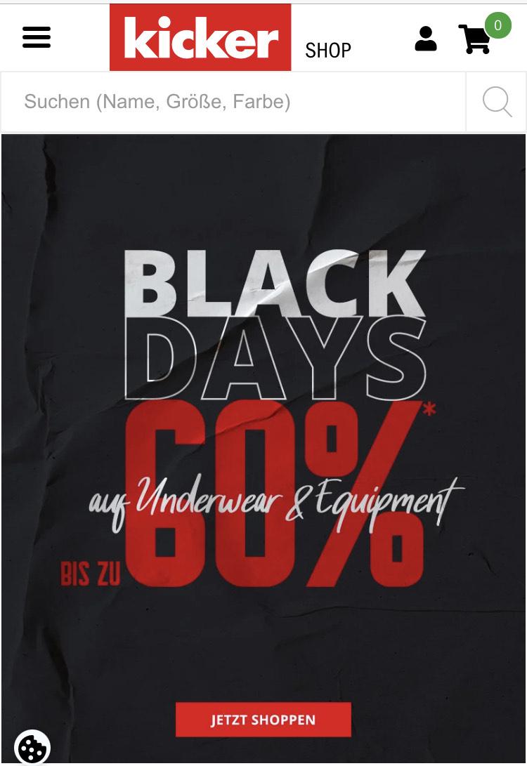 Prozente im Online Shop kicker