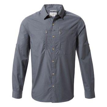 Kiwi Boulder Hemd Ombre Blue (Gr. S-XXL, Uv-Schutzfaktor 40+) für 21,29€ + 6,95€ Versand