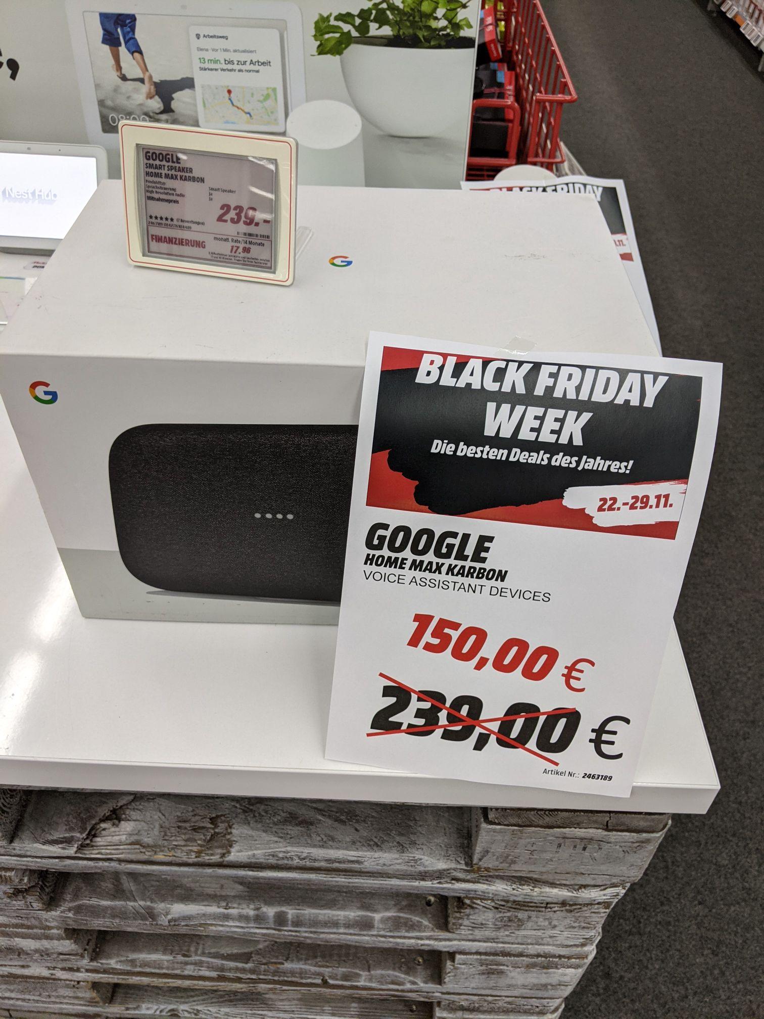 (Lokal Berlin Mediamarkt Ostseestr.) Google Home Max