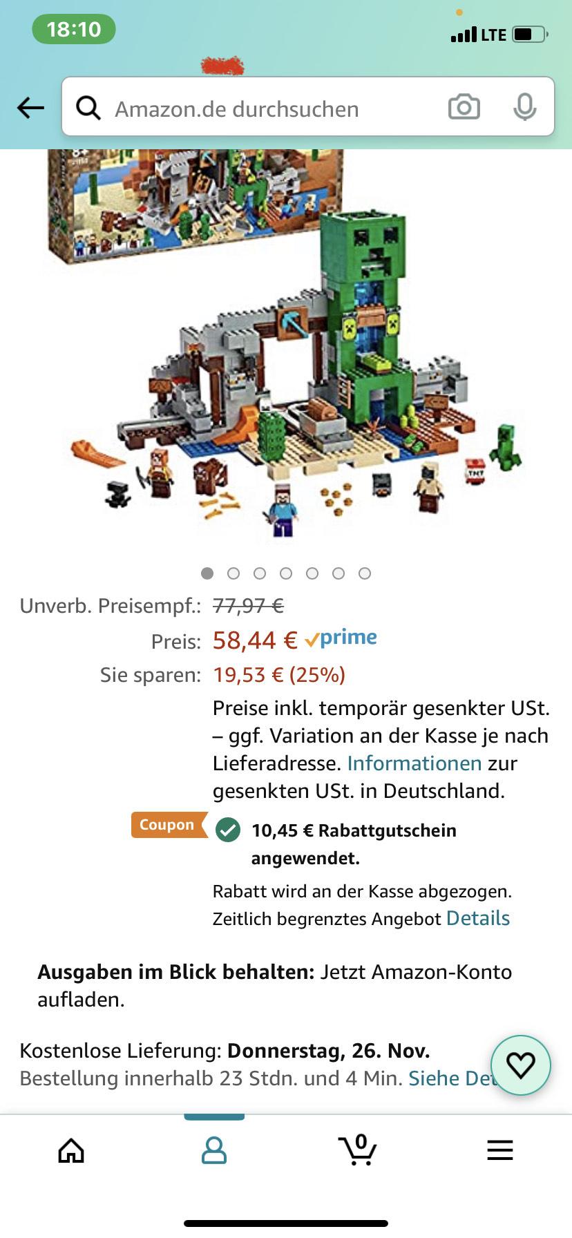 LEGO 21155 Minecraft Die Creeper Mine