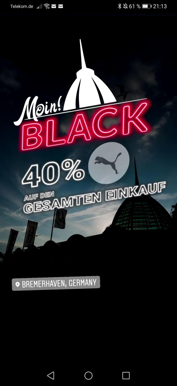 [lokal] 40 % auf alles im PUMA Outlet Bremerhaven