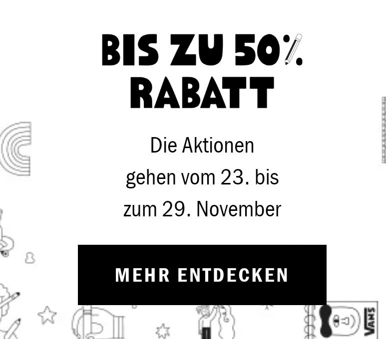 Black Friday Sale bei Vans - bis zu -50% sparen!