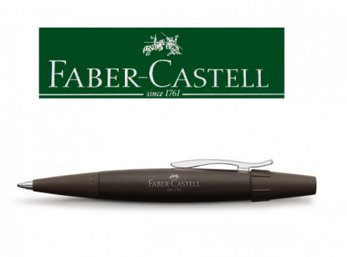 Stylischer und ergonomischer Kugelschreiber E-Motion dunkelbraun 148361