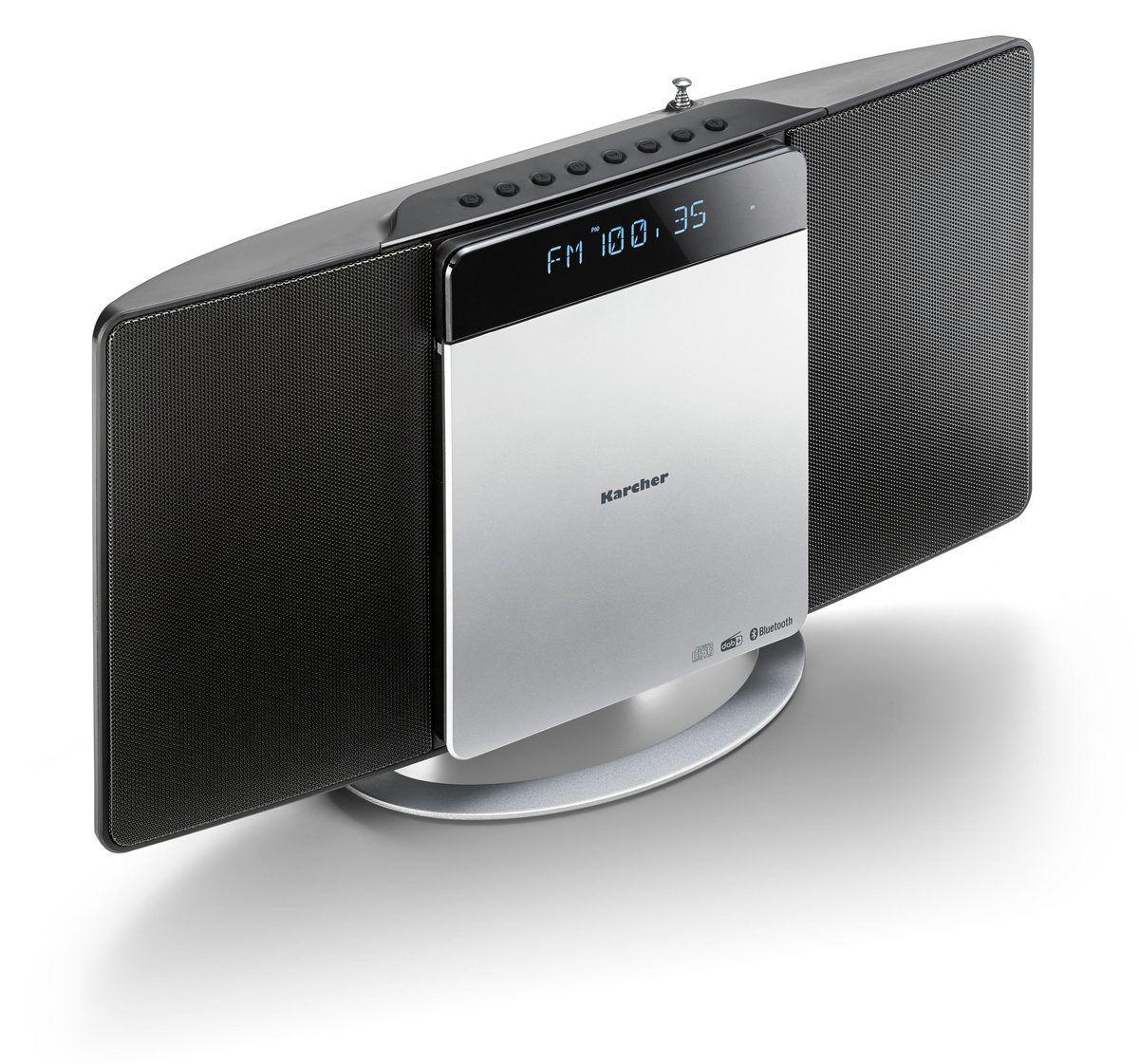 Karcher MC 6580D Kompaktanlage (mit CD Player, vertikale Stereoanlage, Bluetooth und Wecker, UKW und DAB+