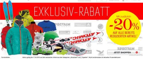-20% Sale bei Sport Eybl