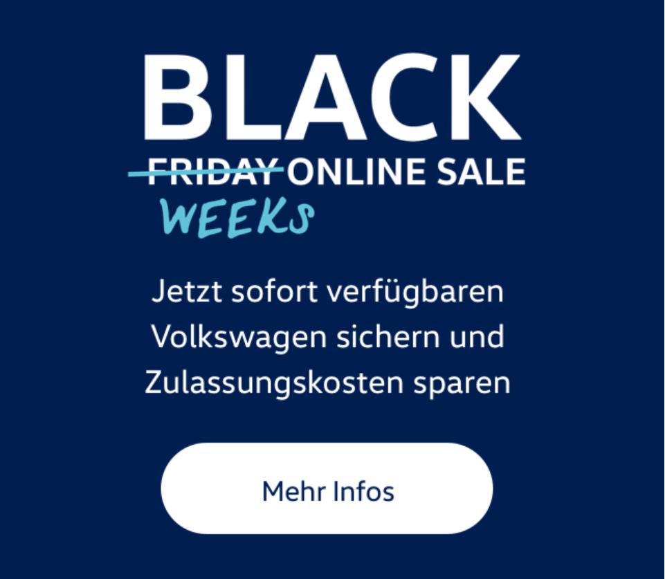 Volkswagen black week online sale Österreich z.Bsp e-up sofort verfügbar
