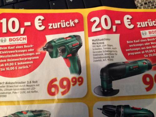 Bosch Frühlingsideen: Bis zu 20 Euro Cashback bei grünen Elektrowerkzeugen