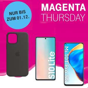 Magenta Thursday: z.B. -50% auf Apple Original Cases I Samsung Galaxy S10 Lite 349€ I Xiaomi Mi 10T Pro 256GB 397€ I OnePlus 8 Pro 599€ etc.