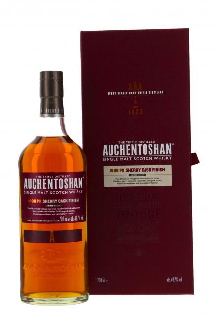 Auchentoshan PX Sherry Cask Finish 29 Jahre 1988. Single Malt Whisky
