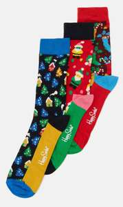 Happy Socks Socken 3er Set in versch. weihnachtlich Motiven, TKMaxx