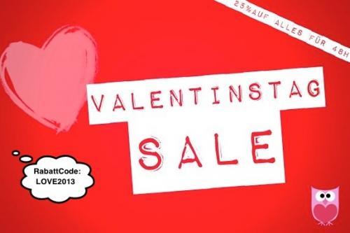 zum Valentinstag 25% Gutschein auf alles bei prettybutton.de