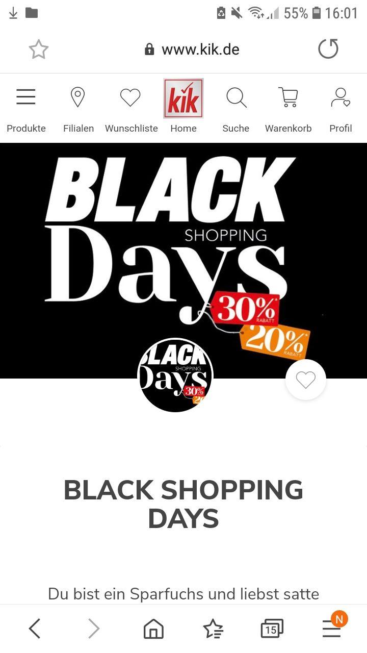 Hinweis: Black Shopping bei Kik