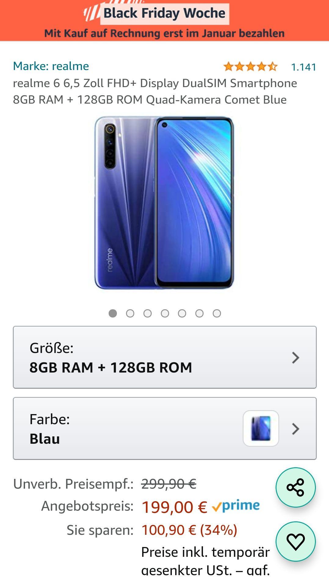 Realme 68/128GB in Comet Blue