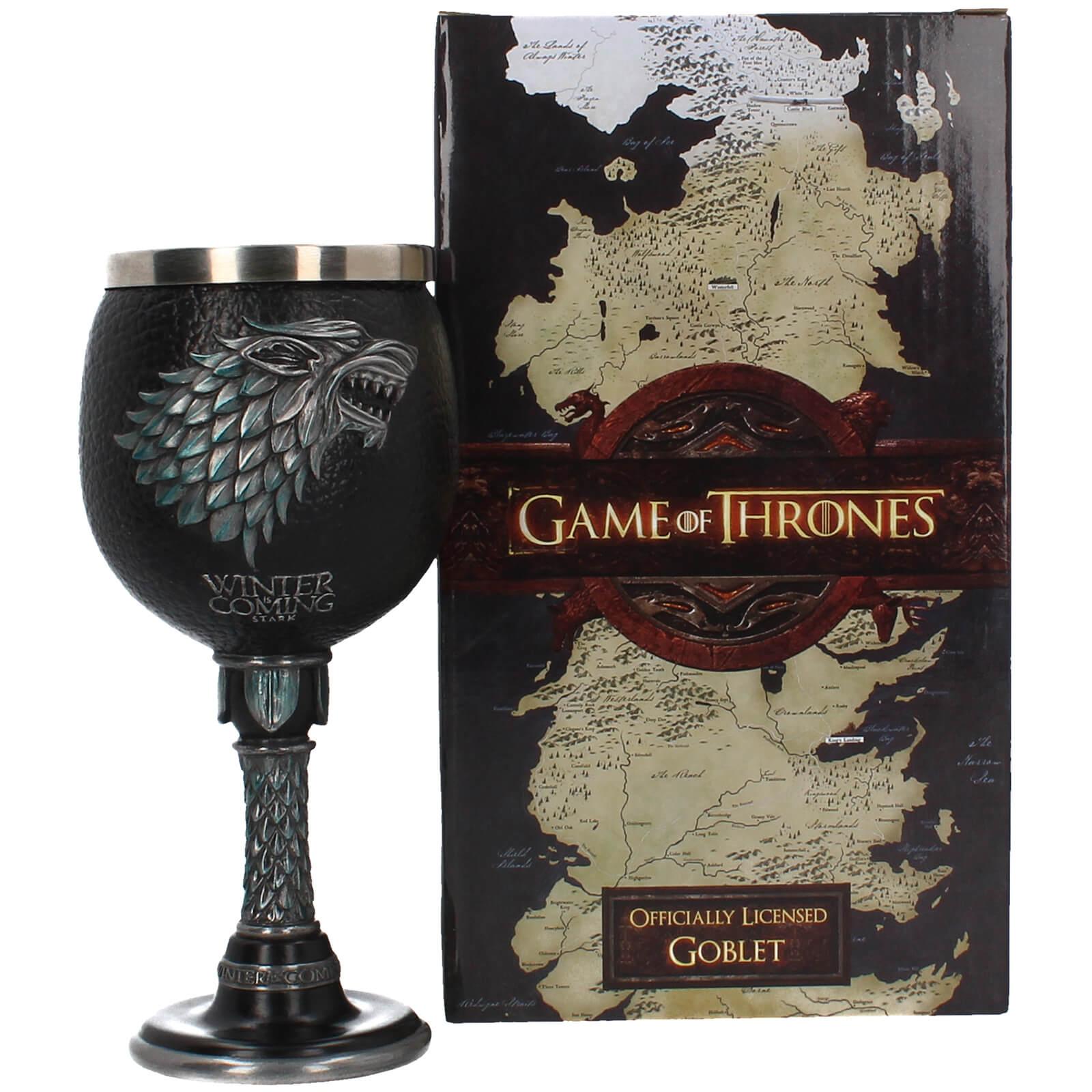 """Game of Thrones """"Winter is coming"""" Kelch für 23,48 oder Harry Potter Bundle: Kunstdruck (A4, 300g/m²) + Tasse (325ml) für 10,99€"""