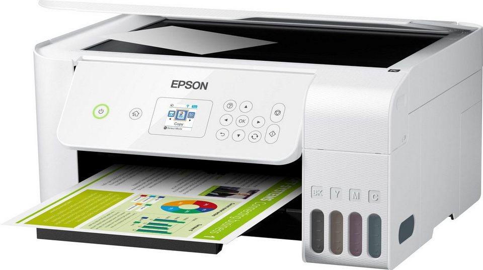 Testsieger Epson EcoTank ET-2726 Tintenstrahldrucker inkl. Microsoft office 365 Single