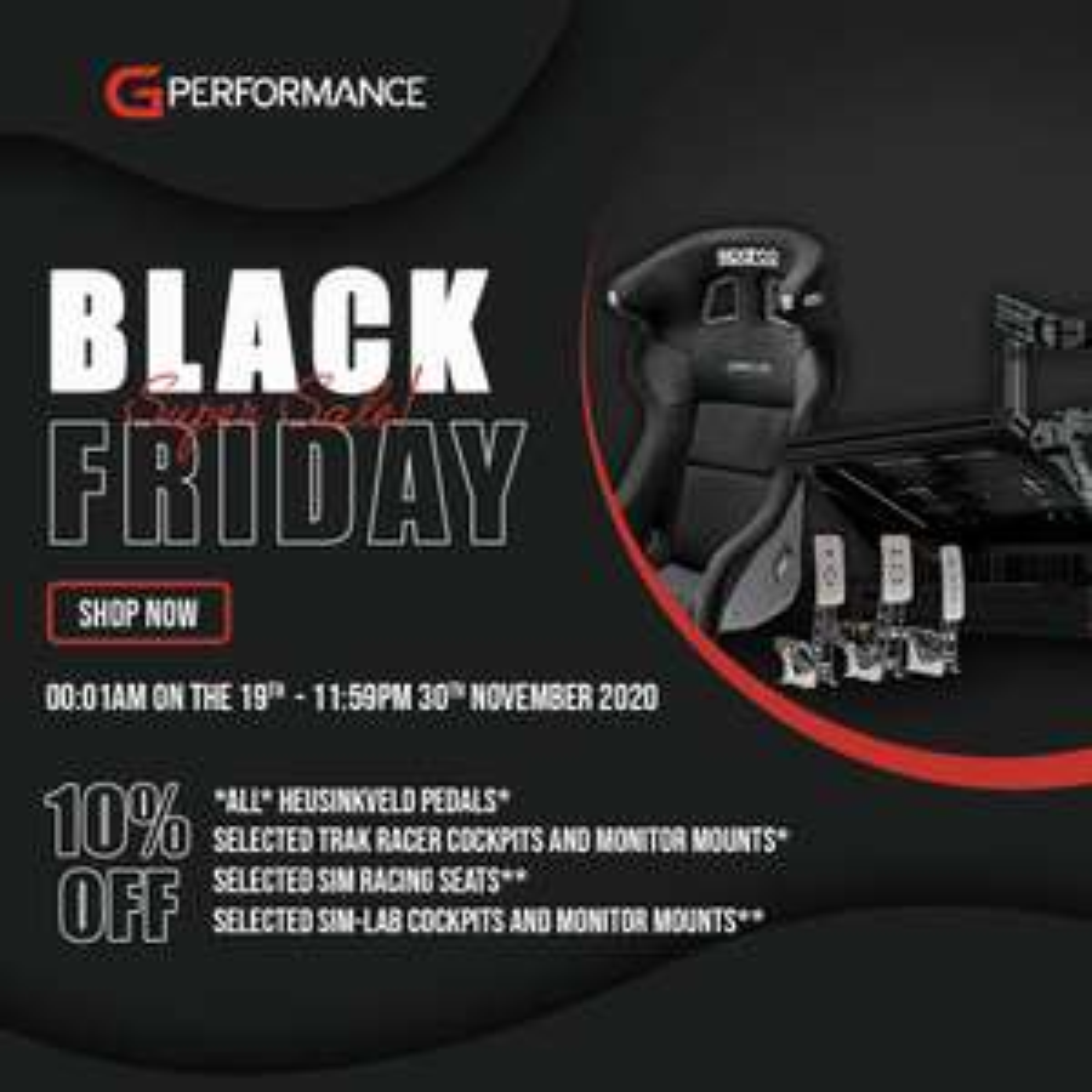 G Performance - BFW 10% Rabatt auf Heusinkveld Pedale, SimLab Chassis und Sparco Sitze
