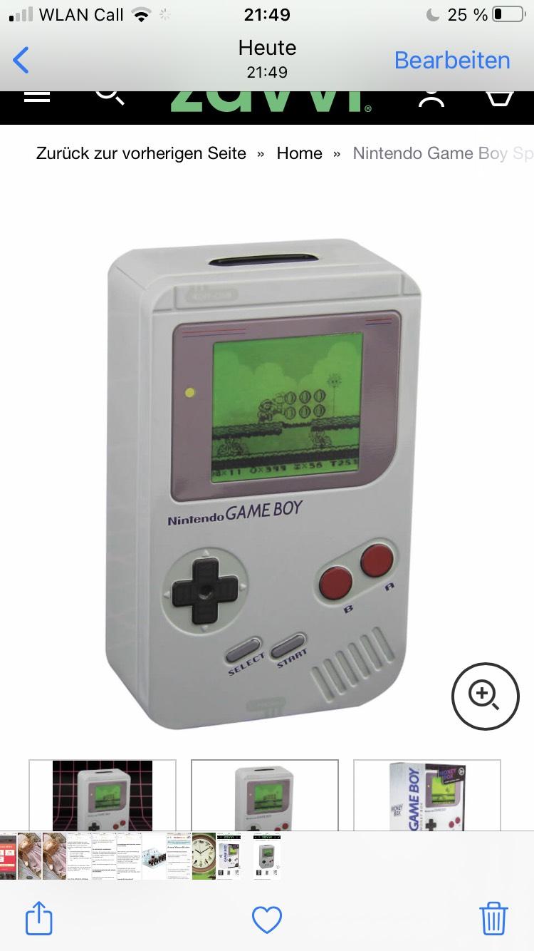 Nintendo Game Boy Spardose – Weiß