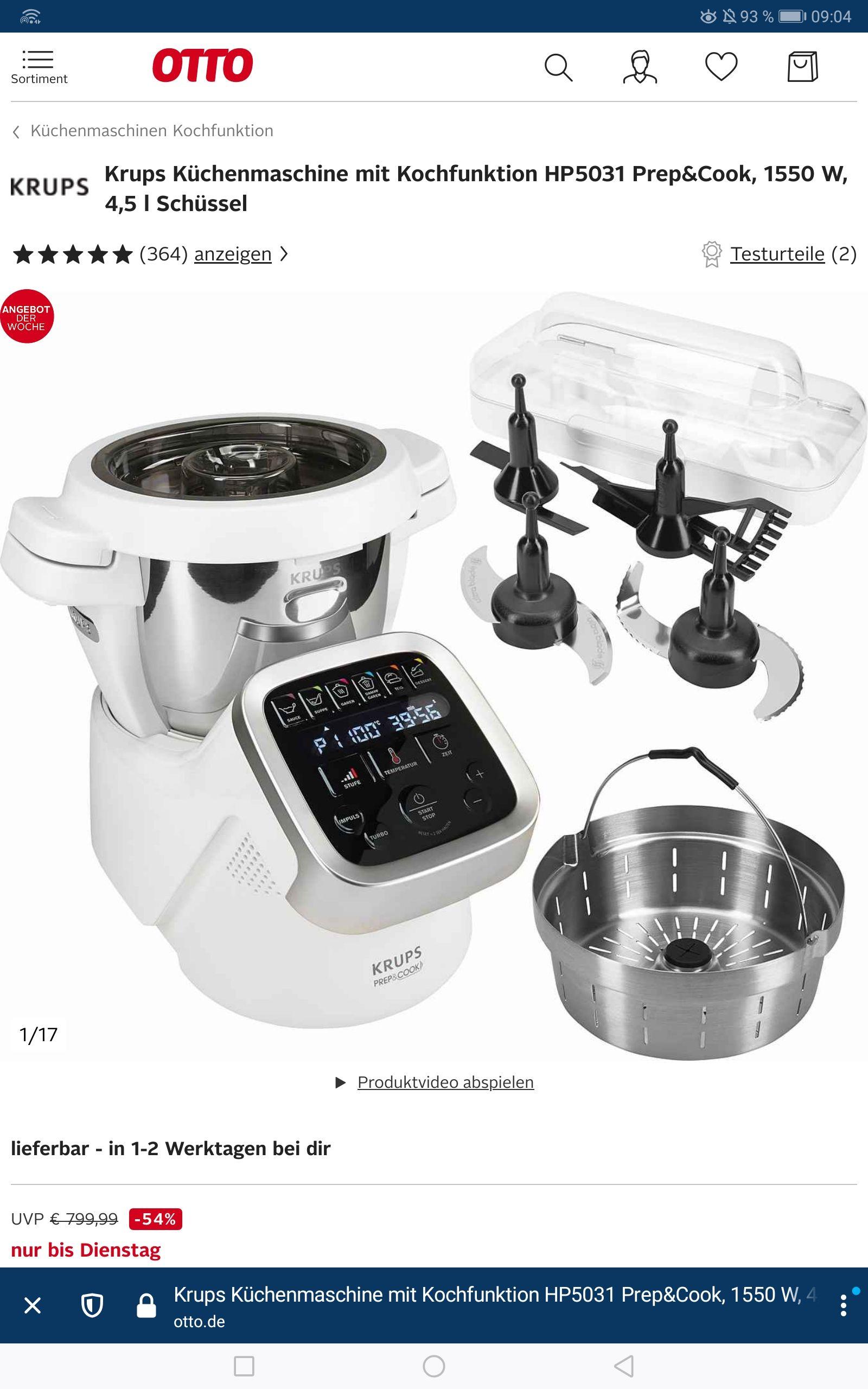 Krups Prep & Cook HP 5031 (Neukundengutschein)