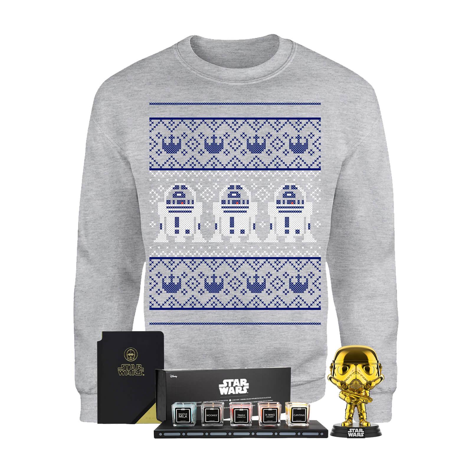 Star Wars Bundle: Weihnachtspullover (Gr. S-XXL) + Kerzenset + Notizbuch + Funko-Pop für 27,99€ oder Darth Vader Lautsprecher für 64,48€