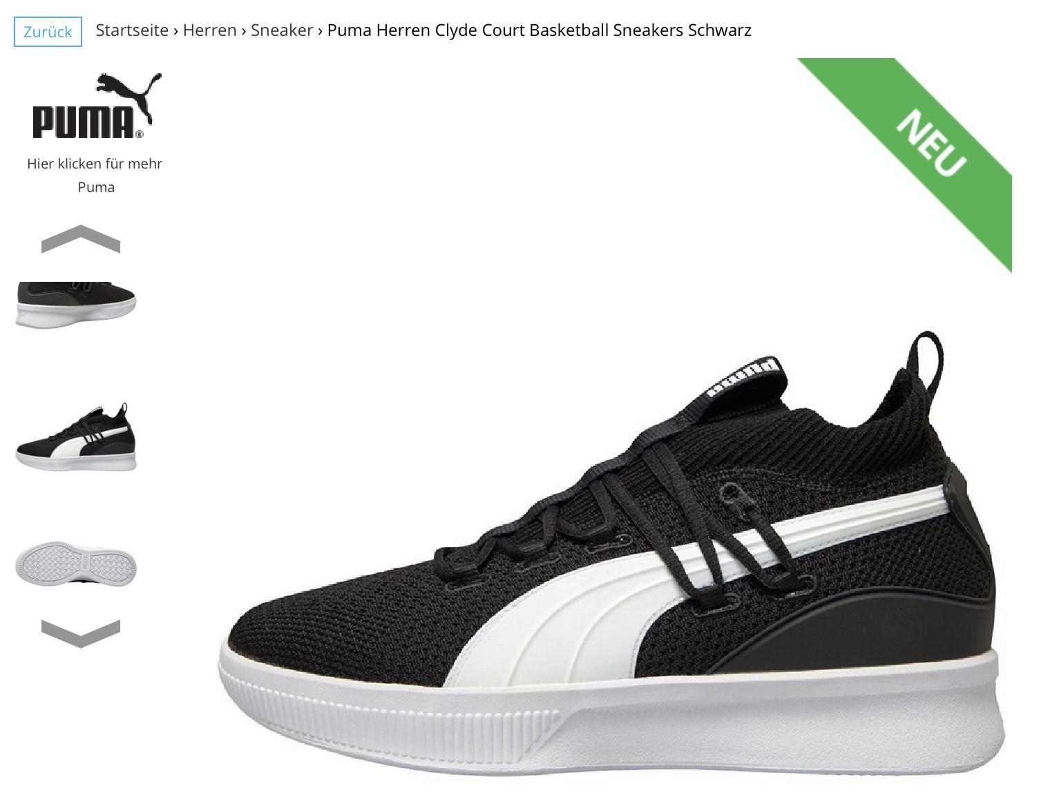 Puma Clyde Court Basketball Schuh Sneaker [mandmdirect]