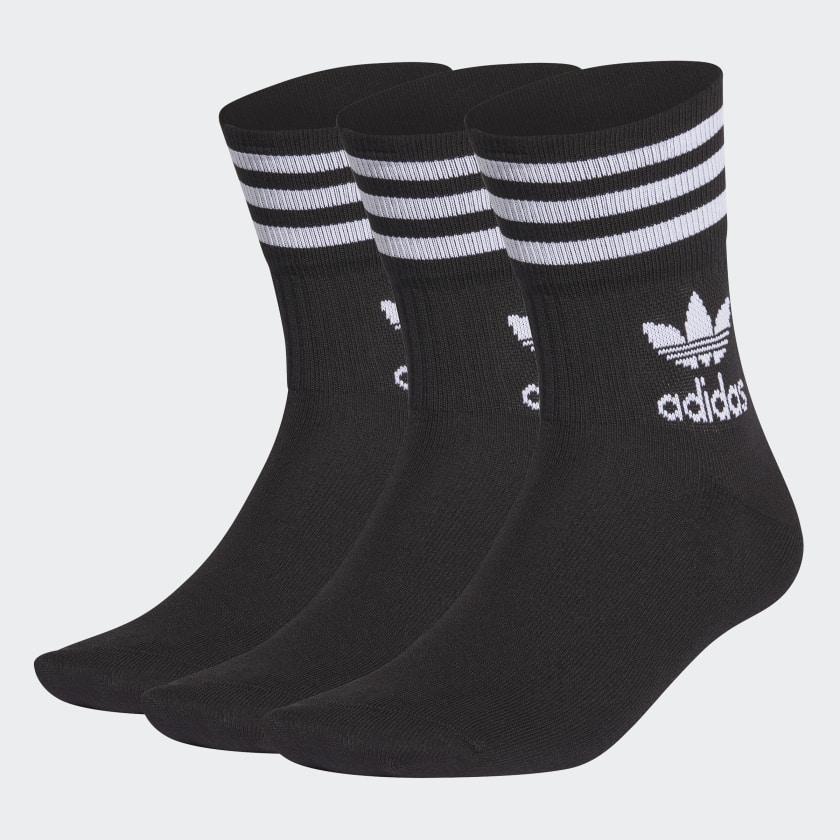 adidas Originals Mid-Cut Crew Socken (3 Paar) in Schwarz für 7,51€ bzw. Weiß für 8,58€ via Collectors Club