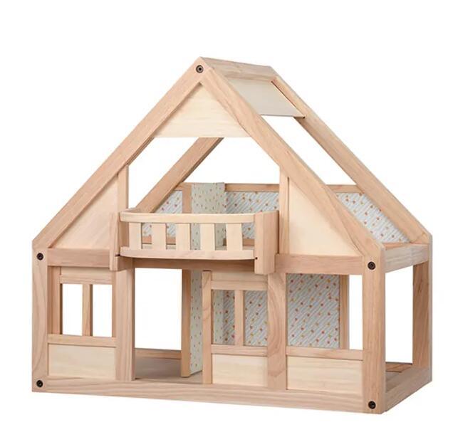 """PlanToys """"Mein erstes Puppenhaus"""" 62,5 x 47 x 57,5 cm (HxBxT), ab 3 Jahre, Sicherheitsholzspielzeug aus recycelten Gummihölzern"""