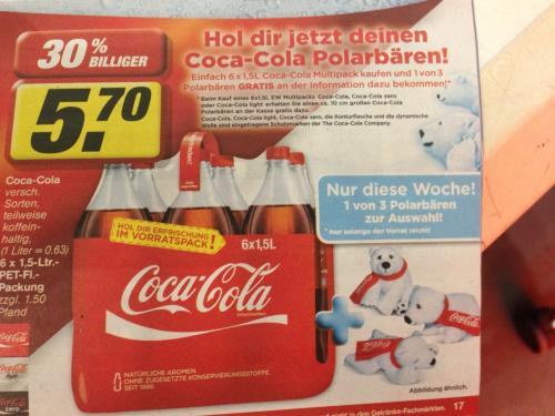 Coca-Cola kaufen und gratis Polarbären dazu