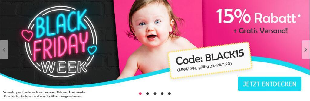 15% Rabatt bei Baby-Sweets.de und kostenlosen Versand, MBW 29€, auch auf Sale