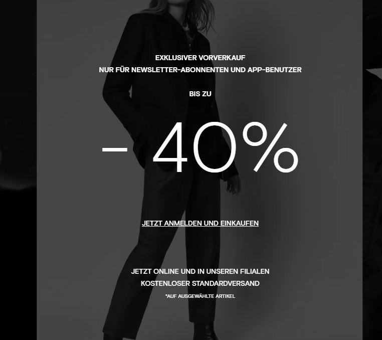 Bis zu 40% bei Massimo Dutti für Newsletter-Abonnenten und App-Nutzer