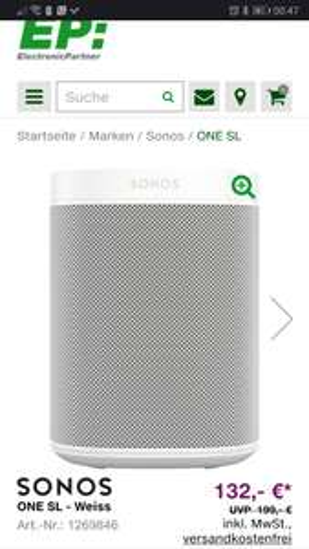 EP Electronic Partner - Sonos One SL - schwarz