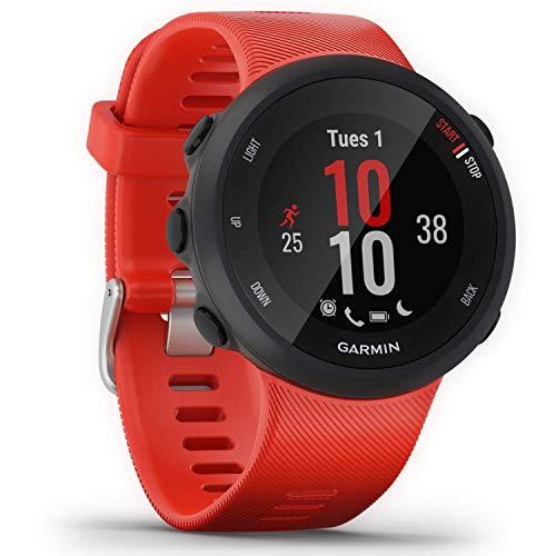 Garmin Forerunner 45 – GPS-Laufuhr mit umfangreichen Lauffunktionen, Trainingsplänen, Herzfrequenzmessung am Handgelenk, Benachrichtigungen