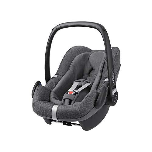 Maxi-Cosi Pebble Plus Babyschale, sicherer Gruppe 0+ i-Size Kindersitz (0-13 kg), passend für FamilyFix Two, sparkling grey
