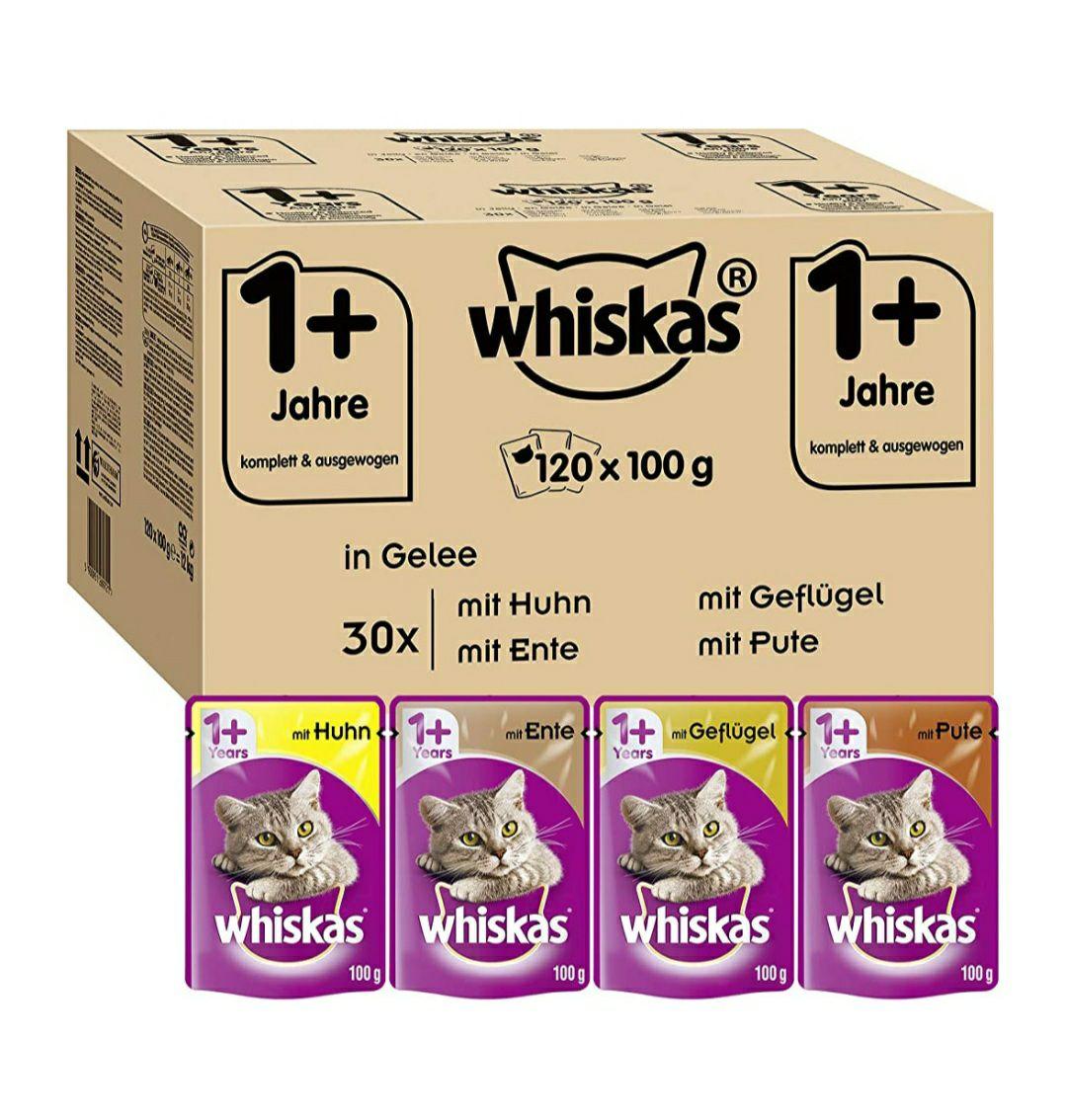 Whiskas Katzenfutter 1+ Adult / 120x100g / 2,07€/Kg