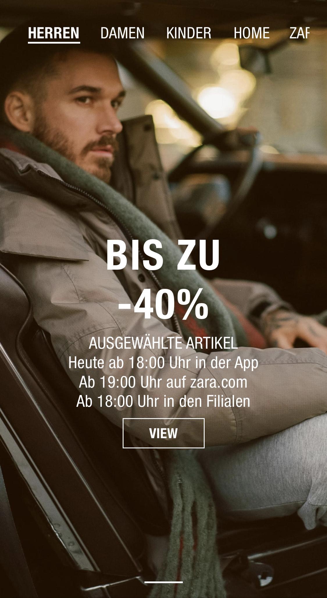 Zara black friday sale bis zu 40%