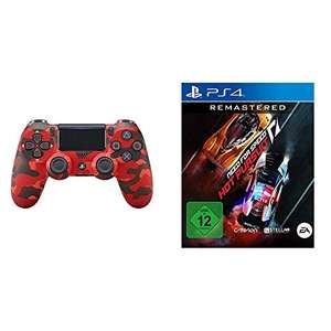 Sony DualShock 4 V2 Red Camouflage + Need for Speed Hot Pursuit Remastered für 59,99€ (Amazon)