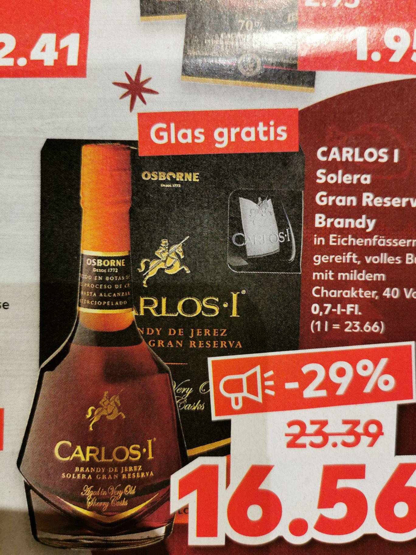 CARLOS I Solera Gran Reserva Span. Brandy 40 Vol. %